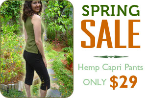 swirlspace hemp capri pants