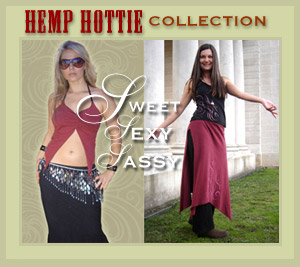 hemp clothing - tops, tshirts, yoga pants, skirts